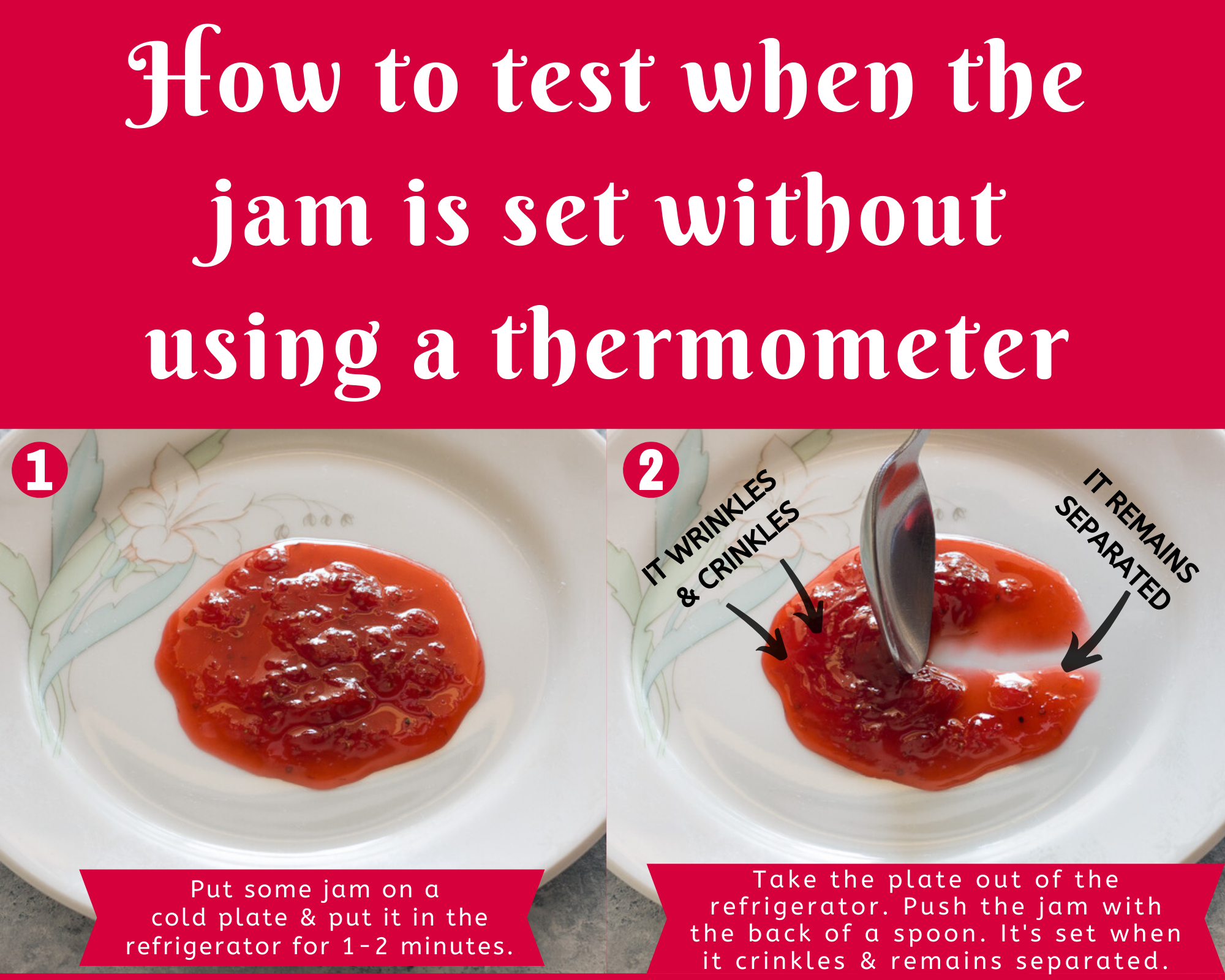 how to test when jam is set