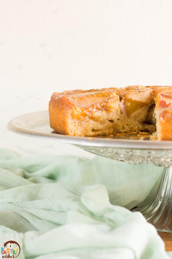fresh peach upside down cake