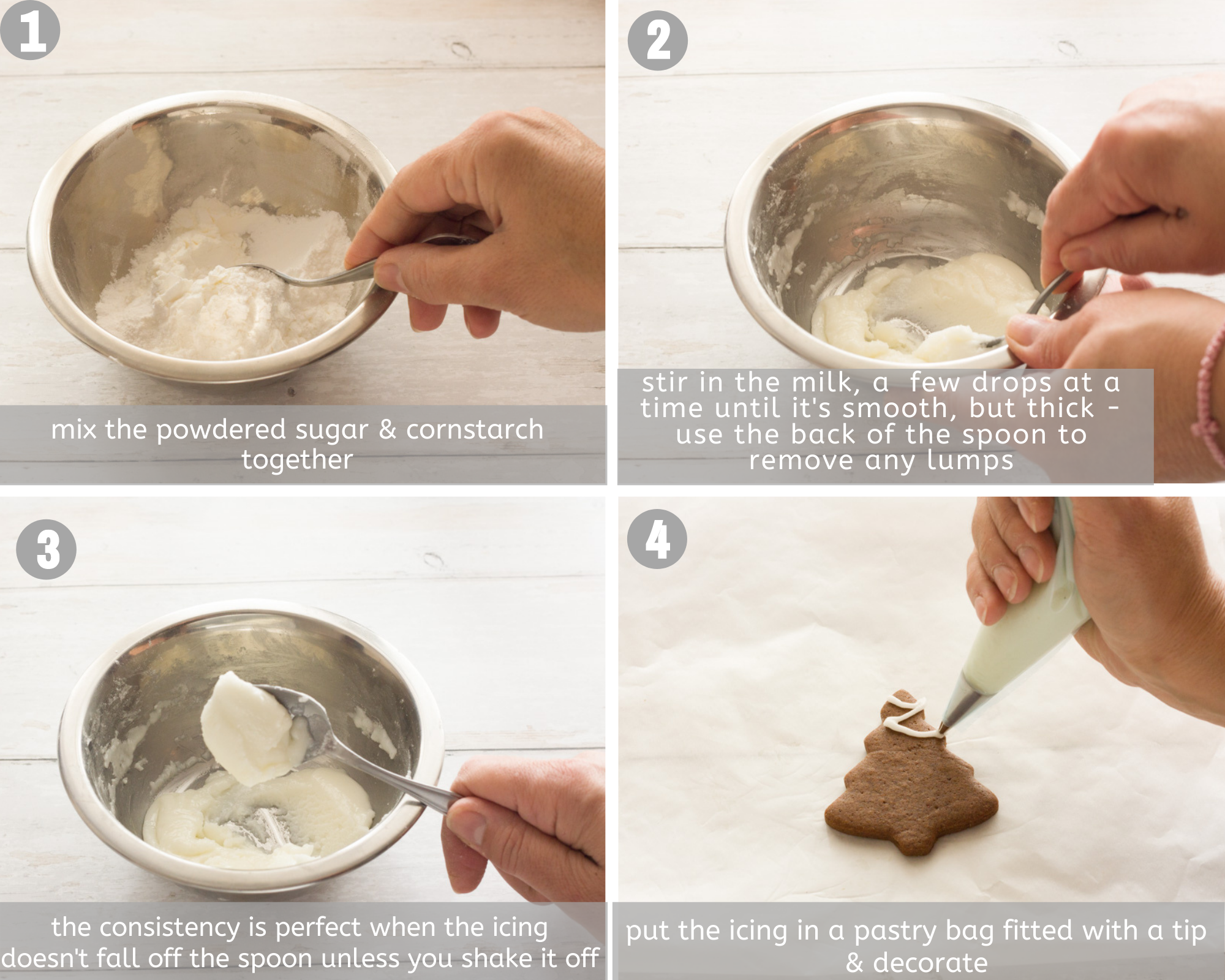 eggless icing four steps