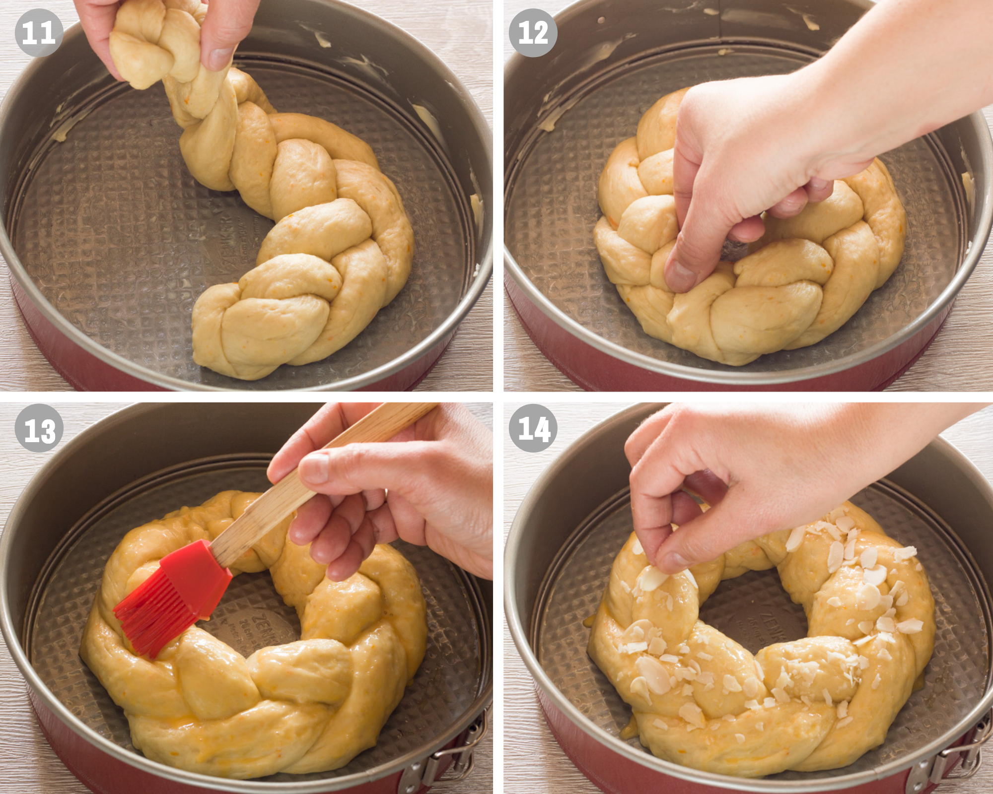 how to braid tsoureki steps 11-14