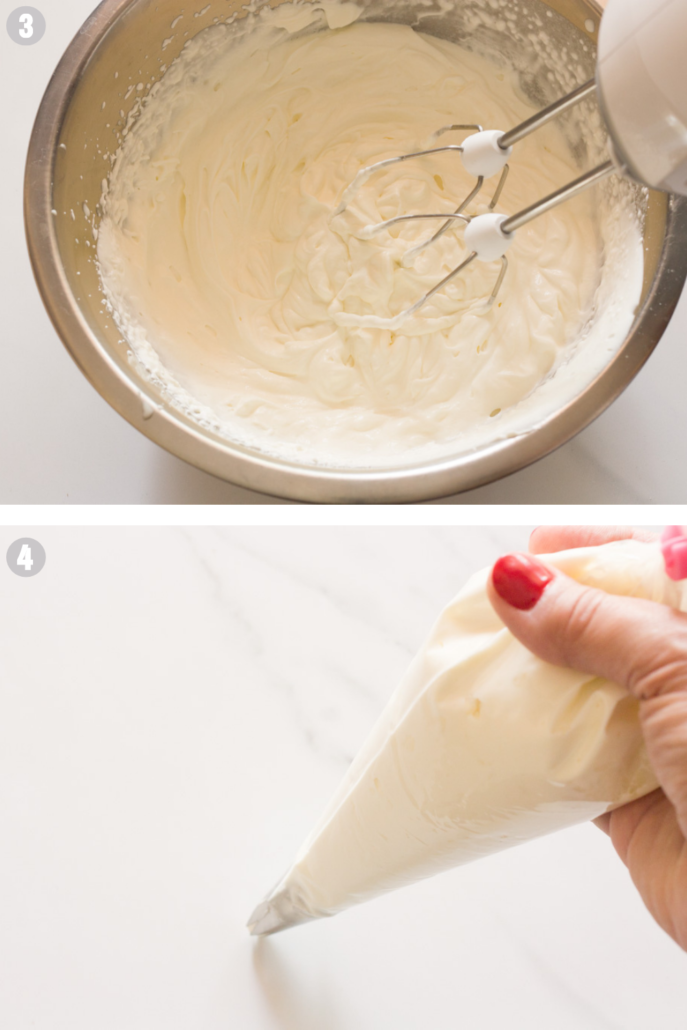 Strawberry cups steps 3-4 making whipped cream