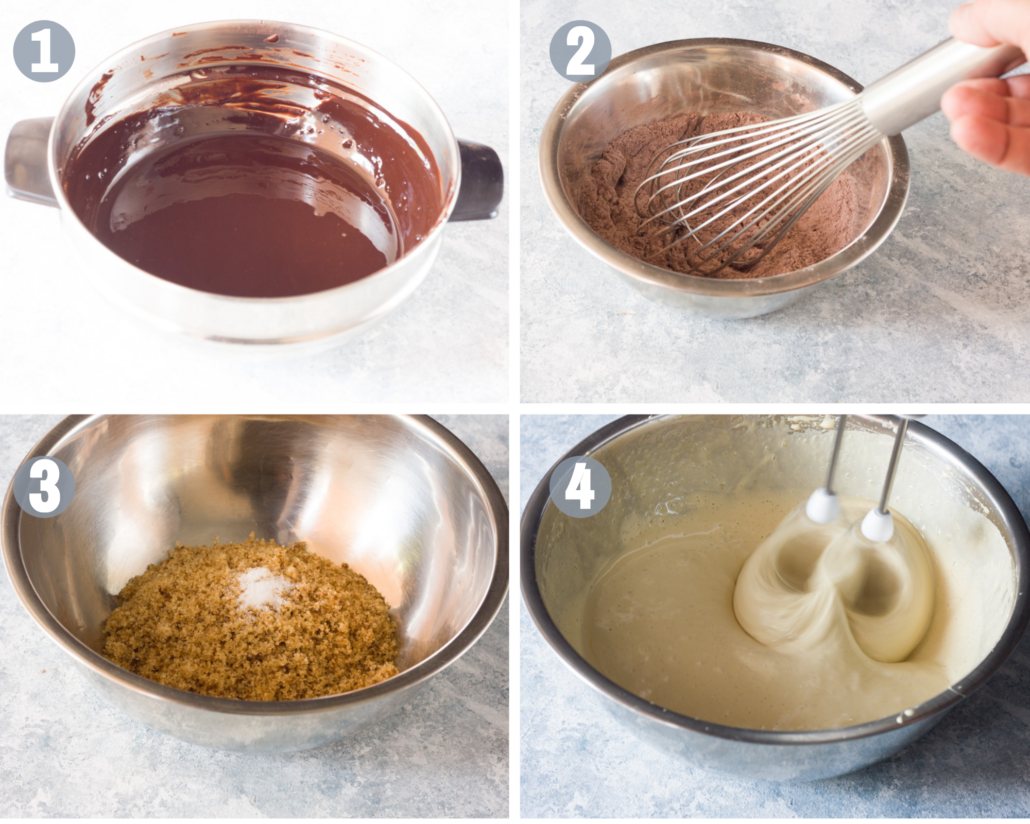 classic brownies steps 1-4