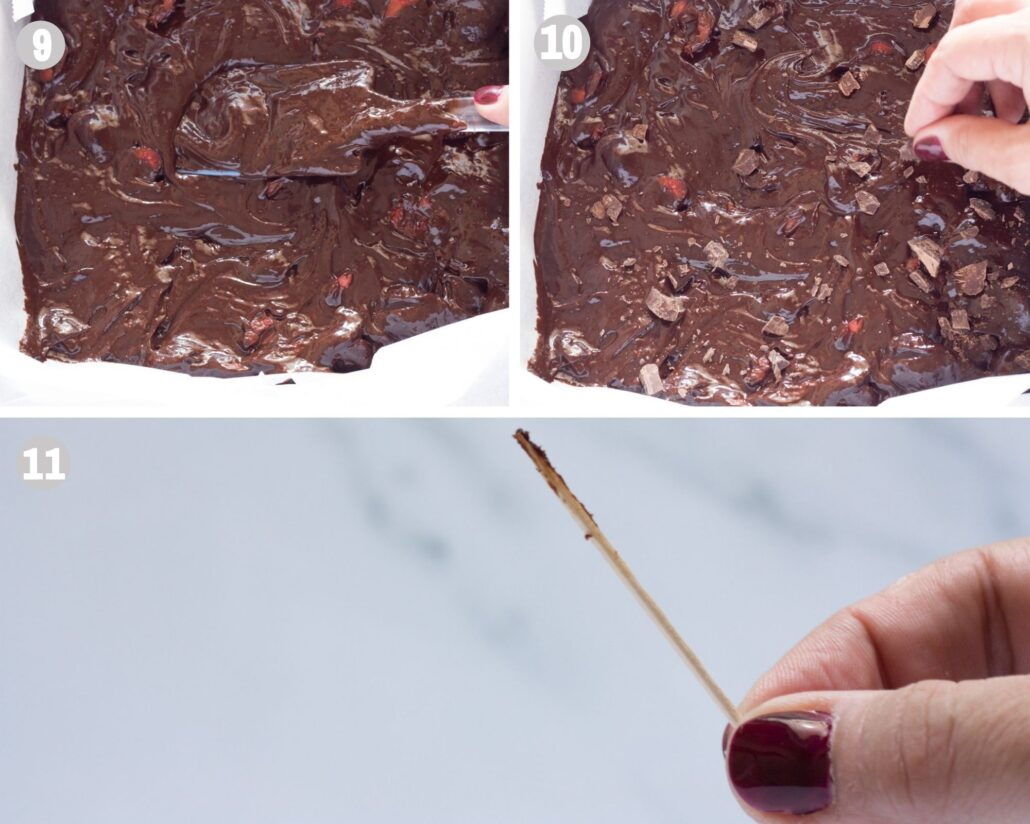 chocolate cherry brownies steps 9-11