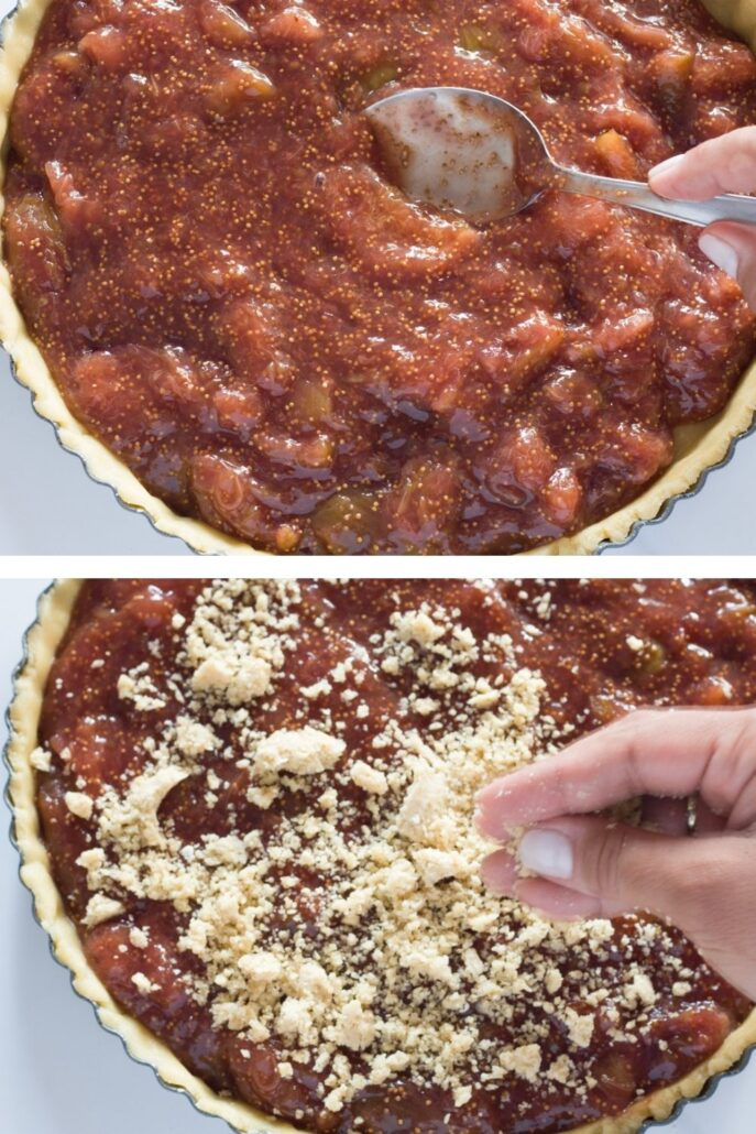 fill and top the fig tart